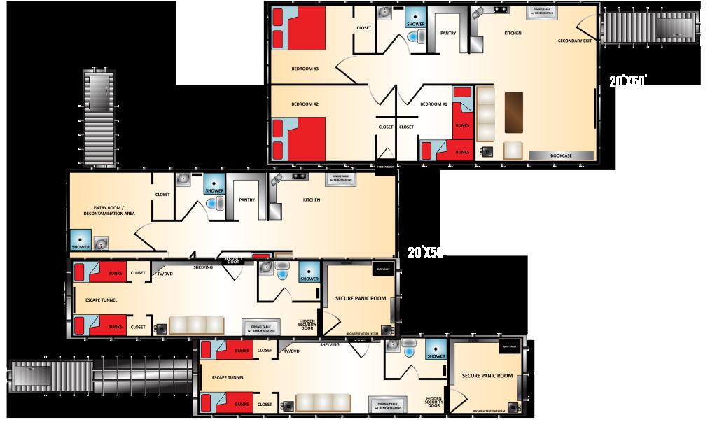 Underground shelter floor plans floor matttroy for Home design xtreme